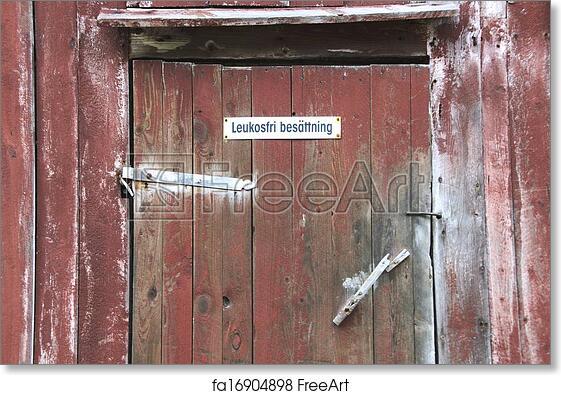 Free Art Print Of Gammal Ladugårdsdörr Old Barn Door