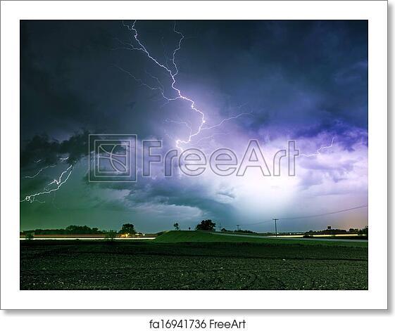 Free Art Print Of Tornado Alley Severe Storm. Tornado