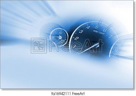 Free art print of Speedometer Dash
