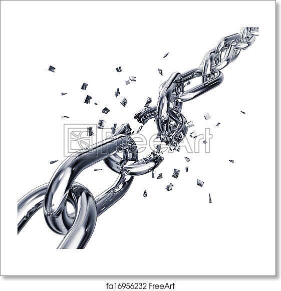 Free Art Print Of Broken Chain