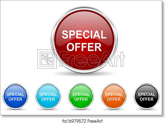 Free Art Print Of Special Offer Icon Set Freeart Fa16979572