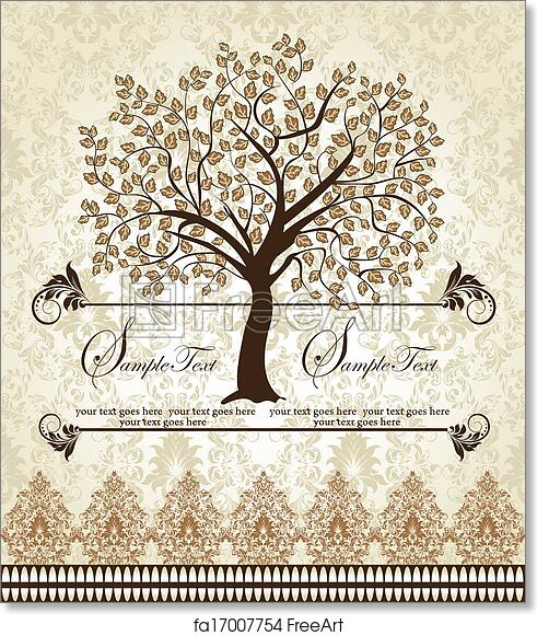 image relating to Free Printable Family Reunion Invitations identified as Totally free artwork print of Relatives Reunion Invitation Card