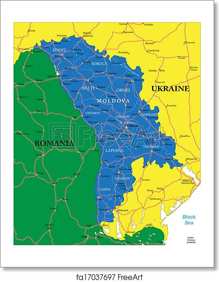 Free art print of Moldova map