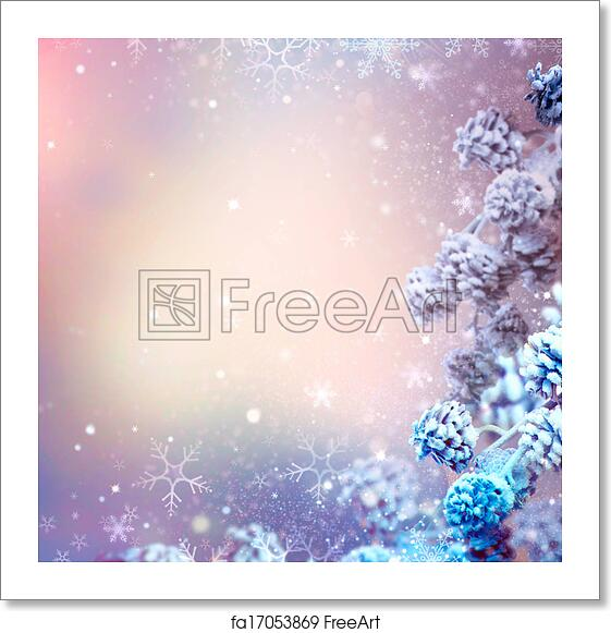 Holiday Christmas Background.Free Art Print Of Winter Holiday Christmas And New Year Snow Background