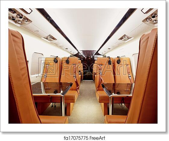 free art print of private plane interior private plane interior