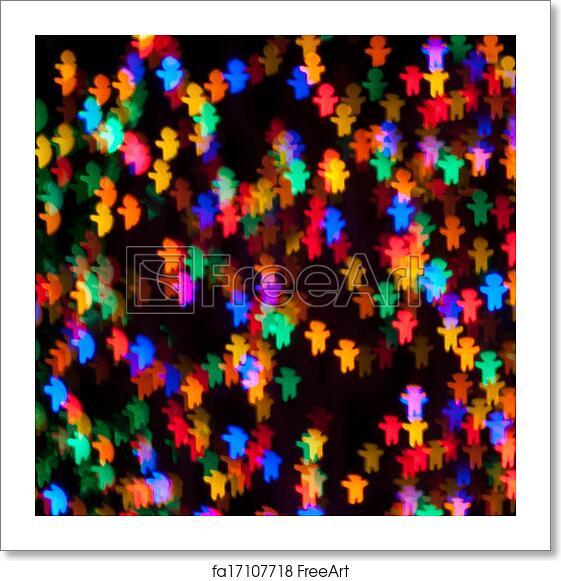 newest collection c4de4 89ae4 Free art print of Rainbow Gingerbread Man Lights Boke
