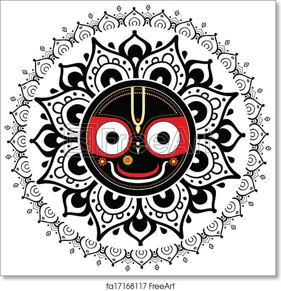 Free Art Print Of Jagannath Indian God Of The Universe Jagannath