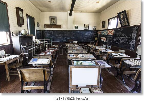 Free art print of Old School Classroom