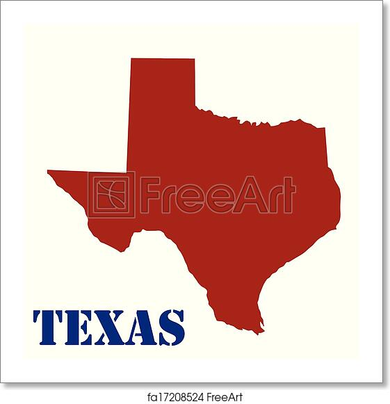 Free Map Of Texas.Free Art Print Of Map Of Texas