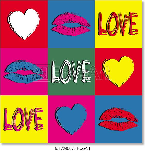 Free Art Print Of Pop Art Love Colorful Pop Art Wallpaper With Love