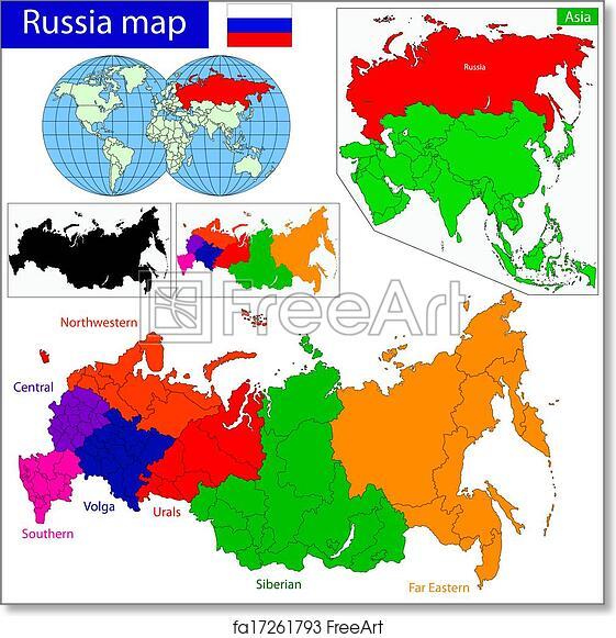 Free art print of Russia map