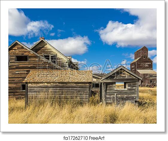 Free Art Print Of Old Ghost Town. Buildings In An