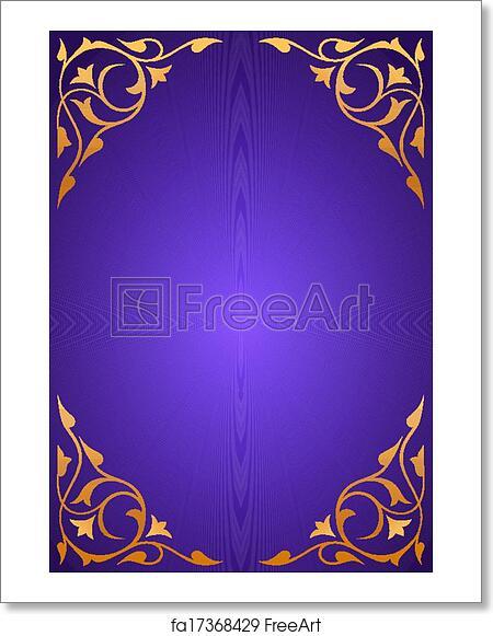 Free Art Print Of Golden Pattern Frames On Purple Golden Pattern