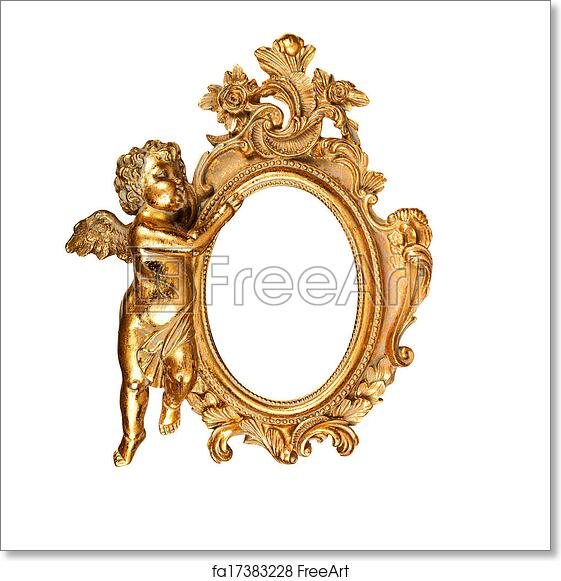 Free art print of Oval picture frame. Golden vintage oval picture ...