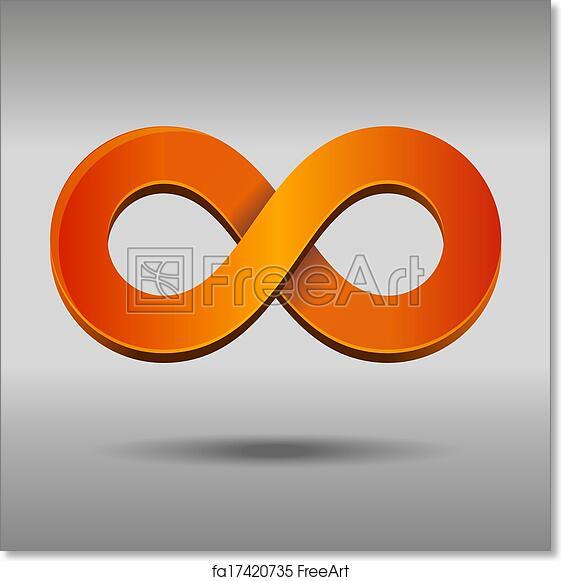 Free Art Print Of Infinity Symbol Illustration Of Sleek Style