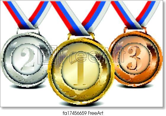 Free art print of Medal set