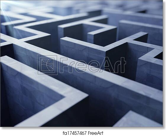 Free art print of Blue labyrinth