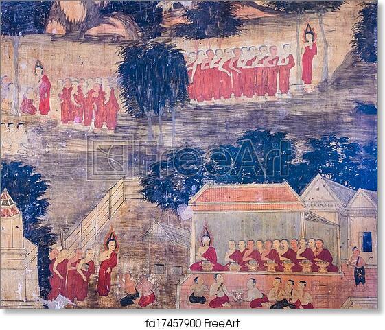 graphic regarding Printable Mural identify Totally free artwork print of Thai mural portray
