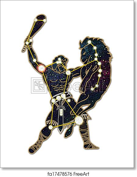 Free art print of Orion the Hunter. Constellation; Orion ...  Free art print ...