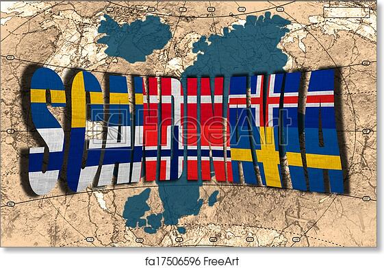 photo about Scandinavia Map Printable named Free of charge artwork print of Scandinavia