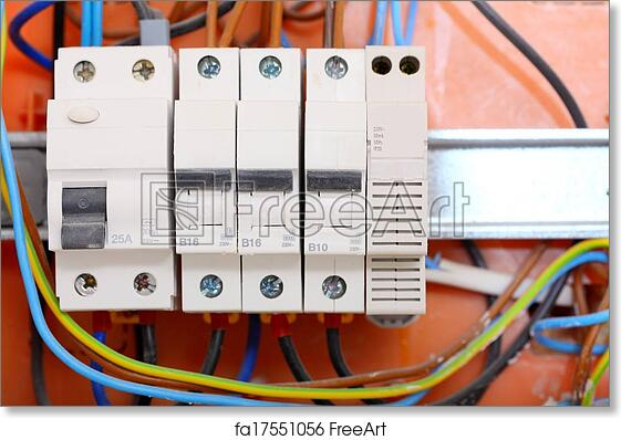 Free art print of Electrical panel box with fuses and contactors ...