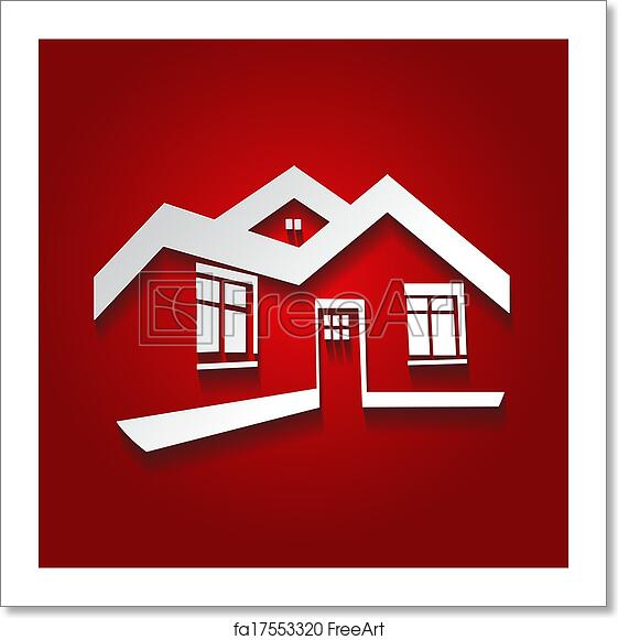 Free Art Print Of Vector Symbol Of Home House Icon Realty