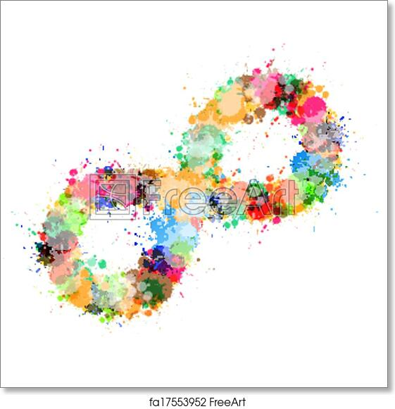 Free Art Print Of Abstract Vector Colorful Stain Splash Infinity