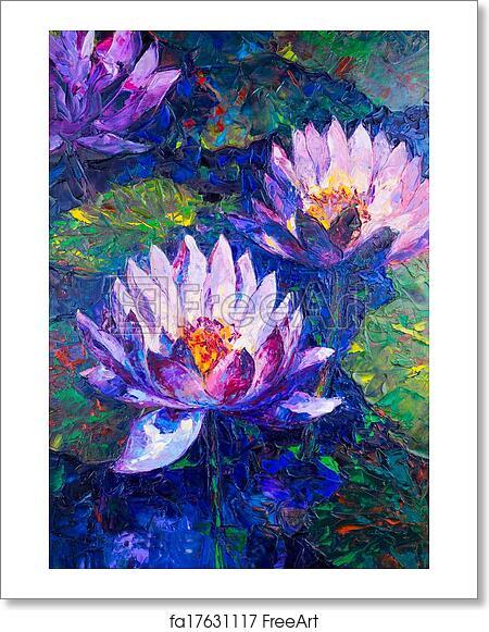 Free art print of oil painting of beautiful lotus flower freeart free art print of oil painting of beautiful lotus flower mightylinksfo