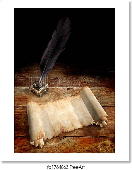 Free art print of Old Parchment and a Quill