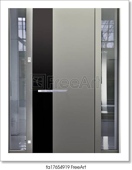 Free Art Print Of Aluminum Front Door Massive Metallic Entry Front