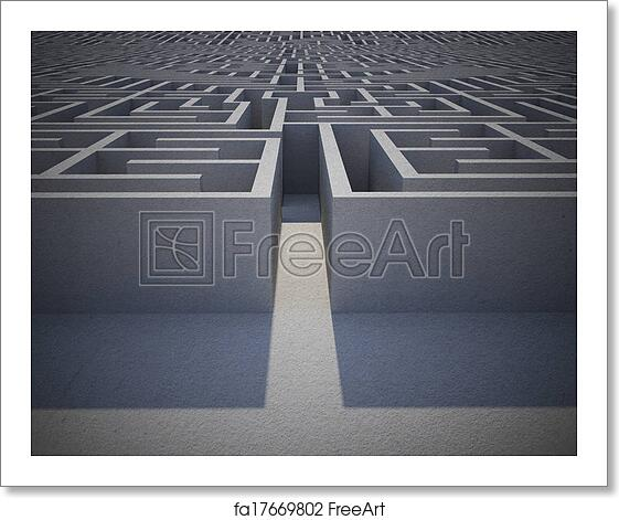 Free Art Print Of Entrance To Difficult Maze Puzzle Freeart