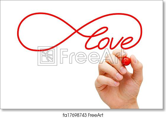 Free Art Print Of Love Infinity Concept Hand Sketching Infinity
