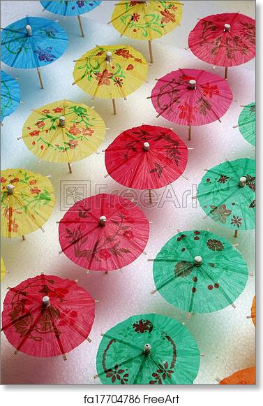 graphic about Umbrella Pattern Printable Free referred to as No cost artwork print of Cocktail Umbrella Habit