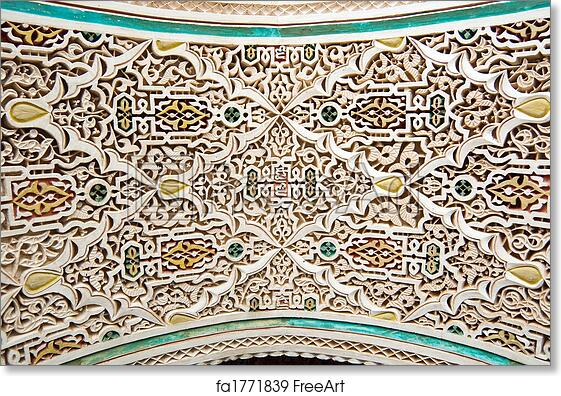 Free Art Print Of Moroccan Style Stucco Background
