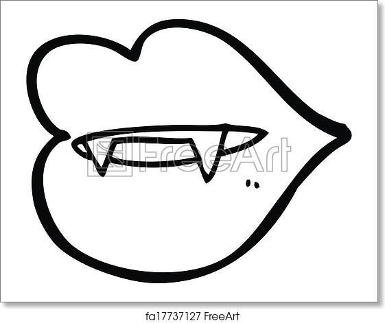 Free art print of Cartoon vampire fangs