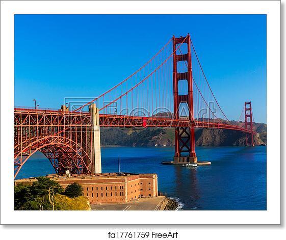 Golden Gate Bridge San Francisco California Sunset Picture: Free Art Print Of Golden Gate Bridge San Francisco From