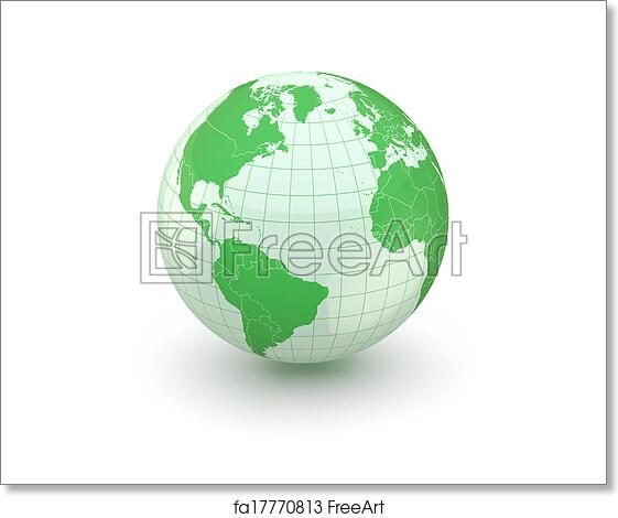 Free Art Print Of Globe Earth And World Map 3d Globe 3d