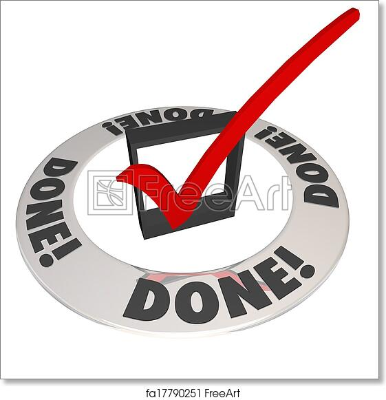 Free Art Print Of Done Check Mark In Checkbox Mission Job