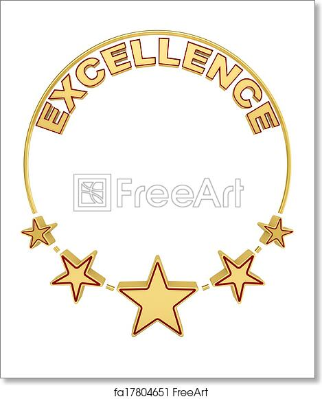 image regarding Give Me Five Poster Printable Free referred to as Absolutely free artwork print of Excellence award with 5 celebs