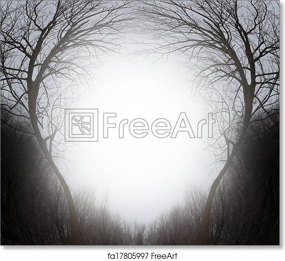 Free art print of Magic Forest. Magic forest winter scene frame ...