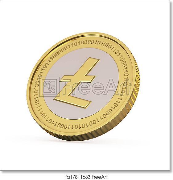 Free art print of Golden Litecoin coin