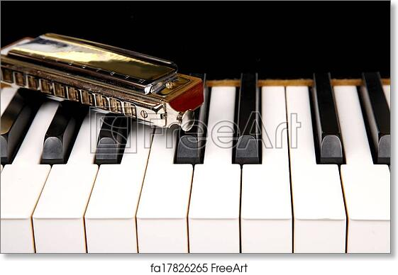 photograph regarding Piano Keyboard Printable referred to as Cost-free artwork print of Mouth organ and piano keyboard