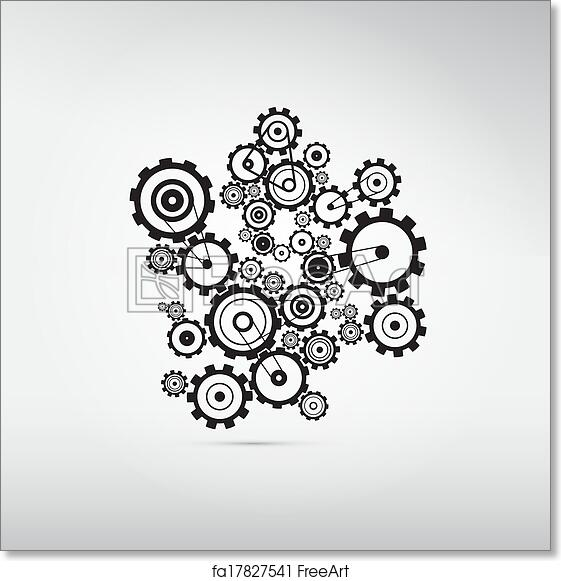 graphic regarding Printable Gears identify Free of charge artwork print of Summary Cogs, Gears Isolated upon Gray Heritage