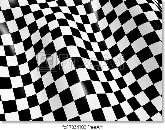picture regarding Checkered Flag Printable named No cost artwork print of Checkered flag