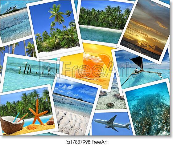 Free Art Print Of Collage Tropical Destinations