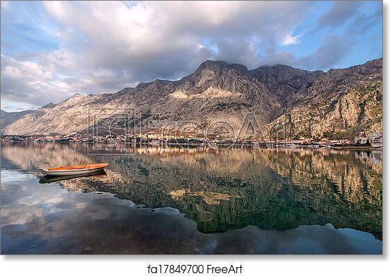 free art print of bay of kotor montenegro boka kotorska bay of