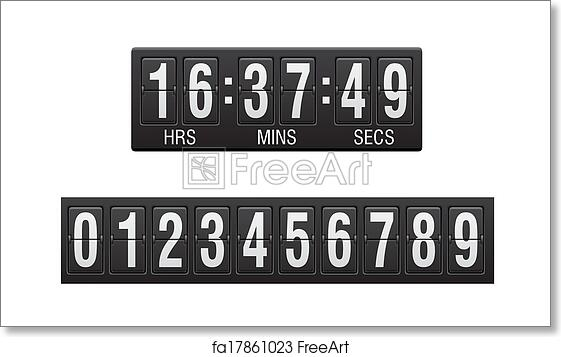 Free art print of Scoreboard countdown timer vector illustration