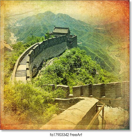 Free art print of Great Wall of China. The beautiful view of the ...