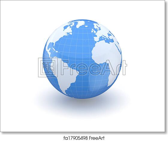 Free art print of globe earth and world map 3d globe 3d free art print of globe earth and world map 3d gumiabroncs Gallery