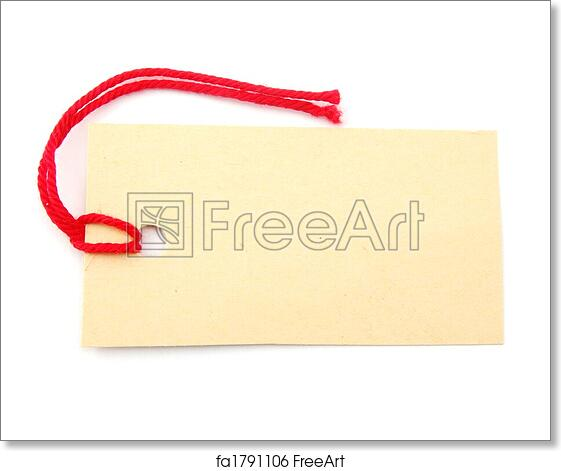 Free Art Print Of Blank Price Tag Blank Price Tag With Copyspace